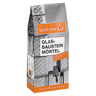 GLASBAUSTEIN-MÖRTEL10kg  QUICK MIX