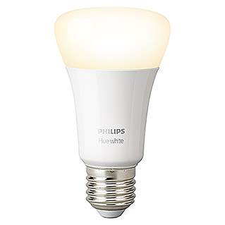 Philips Hue Bombilla LED (E27, 9 W, Blanco cálido, Intensidad regulable, 1 ud.)