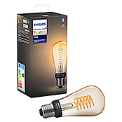 Philips Hue LED-Leuchtmittel (E27, 7 W, Warmweiß, Dimmbar, Oval)