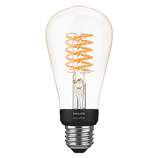 Philips Hue Ledlamp White Filament (E27, 7 W, Warm wit, ST64, Dimbaar)