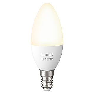 Philips Hue LED-Leuchtmittel White (E14, 5,5 W, Warmweiß, Dimmbar, 1 Stk.)
