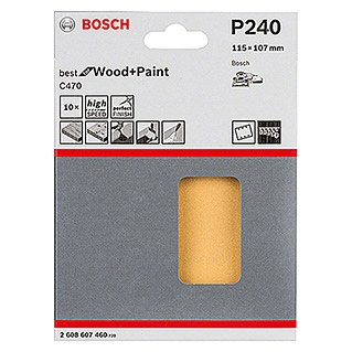 Bosch Professional Schleifblatt-Set C470 Best for Wood and Paint (10 Stk., Körnung: 240)