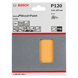 Bosch Professional Schleifblatt-Set C470 Best for Wood and Paint (10 Stk., Körnung: 120)