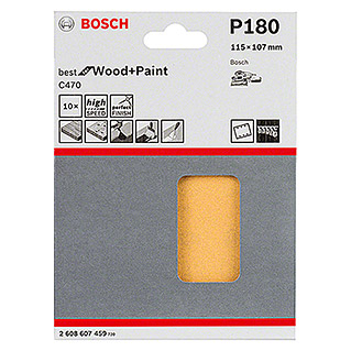 Bosch Professional Schleifblatt-Set C470 Best for Wood and Paint (10 Stk., Körnung: 180)