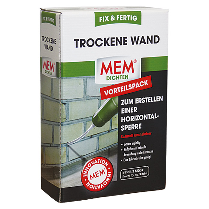 mem trockene wand fix fertig 3 x 290 ml bauhaus. Black Bedroom Furniture Sets. Home Design Ideas