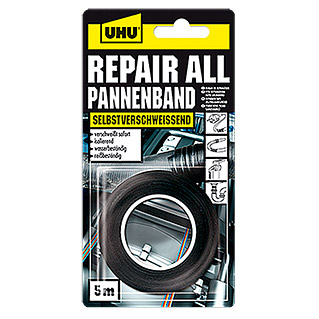 UHU Repair All Pannenband (Schwarz, 5 m x 19 mm)