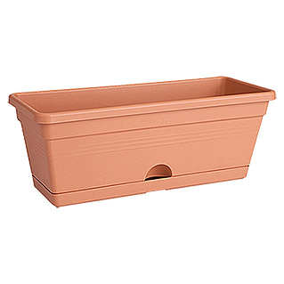 Elho Green Basics Pflanzkasten Trough mini (Terracotta, 30 x 12 x 11 cm)