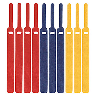 Label The Cable Klett-Kabelbinder Basic (Bunt, 170 x 16 x 2 mm, 10 Stk.)