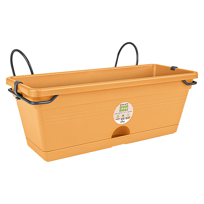 Elho Green Basics Balkonkasten-Set Trough mini all-in-1 (30 x 20 cm, Terracotta)
