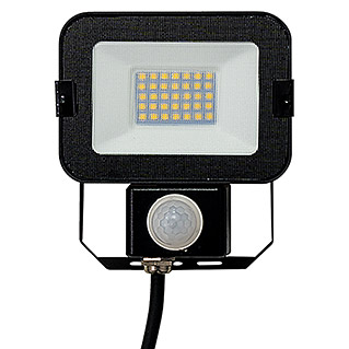 Alverlamp Proyector LED con sensor LQSEN (10 W, Negro, Color de luz: Blanco neutro, IP65)