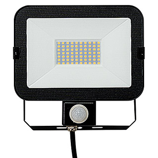 Alverlamp Proyector LED con sensor LQSEN (30 W, Negro, Color de luz: Blanco neutro, IP65)