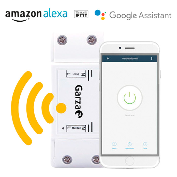 Garza Smart Home Controlador WiFi (Blanco, IP20)