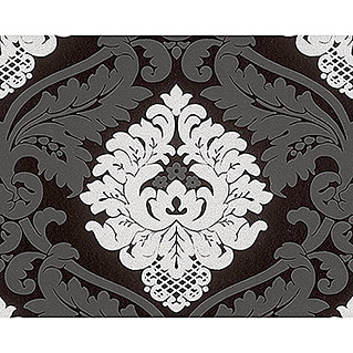 AS Creation Vliestapete Bling Bling (Schwarz, Ornament, 10,05 x 0,53 m)