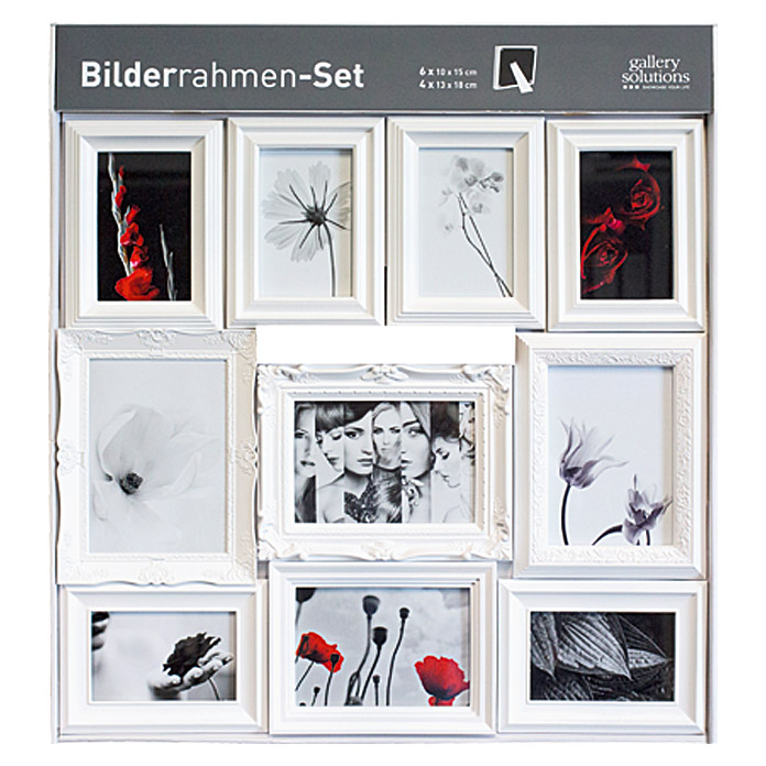 10er bilderrahmensetwei 6741 kunststoffwechselrahmen hfda wechselrahmen hfd galerie. Black Bedroom Furniture Sets. Home Design Ideas