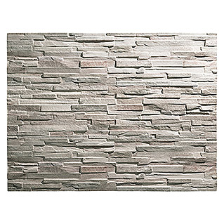 Revestimiento de pared decorativo Ultra light colorado (120 cm x 25 mm, Marrón, Estructurado)