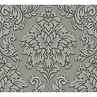 AS Creation Metropolitan Stories Vliestapete Damask (Grau/Grün, Ornament, 10,05 x 0,53 m)