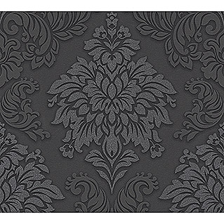 AS Creation Metropolitan Stories Vliestapete Damask (Grau/Schwarz, Ornament, 10,05 x 0,53 m)