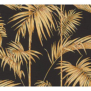 AS Creation Metropolitan Stories Vliestapete Gräser (Schwarz/Gold, Floral, 10,05 x 0,53 m)