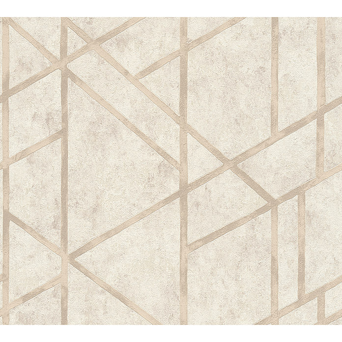 AS Creation Metropolitan Stories Vliestapete Geometrie (Beige, Grafisch, 10,05 x 0,53 m)