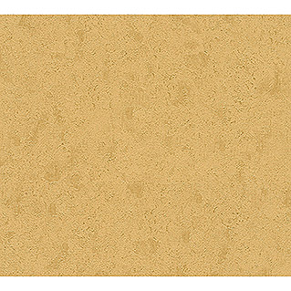 AS Creation Trendwall Vliestapete (Gold, Uni, 10,05 x 0,53 m)