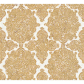 AS Creation Trendwall Vliestapete Ornament (Gold/Weiß, Ornament, 10,05 x 0,53 m)