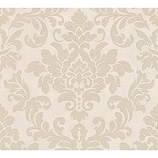 AS Creation Trendwall Vliestapete Ornament (Beige/Creme, Ornament, 10,05 x 0,53 m)