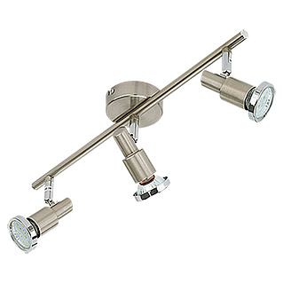 Tween Light LED-Deckenstrahler (3-flammig, Max. Leistung: 9 W, Nickel matt, GU10)