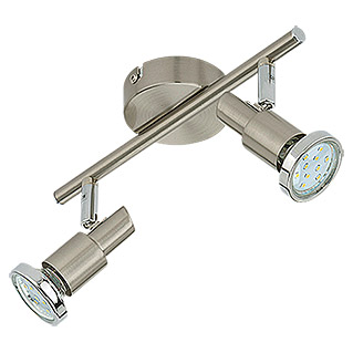 Tween Light LED-Deckenstrahler (2-flammig, Max. Leistung: 6 W, Nickel matt, GU10)