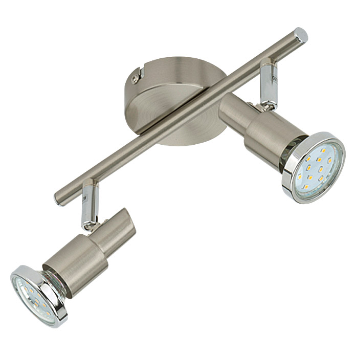 Tween Light LED-Deckenstrahler (2-flammig, Energieeffizienzklasse: A+, Max. Leistung: 6 W, Nickel matt, GU10)