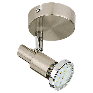 Tween Light LED-Wandstrahler (1-flammig, Energieeffizienzklasse: A+, Max. Leistung: 3 W, Nickel matt, GU10)