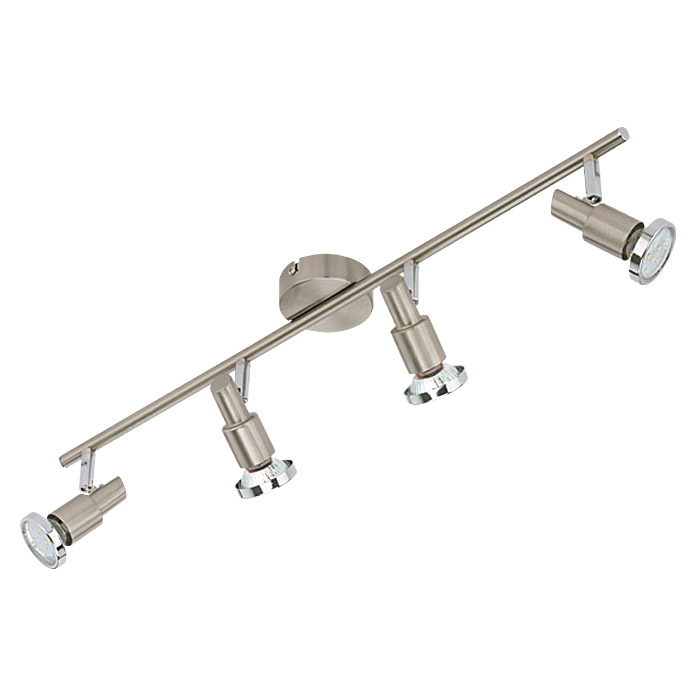 LED SCHIENE  4XGU10 3W MATT-NICKEL      TWEENLIGHT