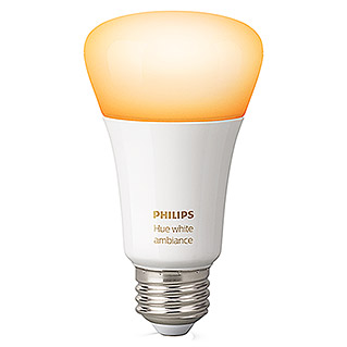 Philips Hue Bombilla LED Ambiance (E27, 9 W, Temperatura de color ajustable, Intensidad regulable, 1 ud.)