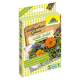 Neudorff Wildgärtner Genuss Saatmischung Wild-Salat (2 x 2 g, Aussaat: April - Juni)
