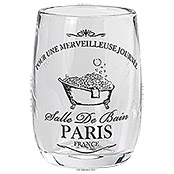 BECHER PARIS GLAS TRANSPARENT/SCHWARZ