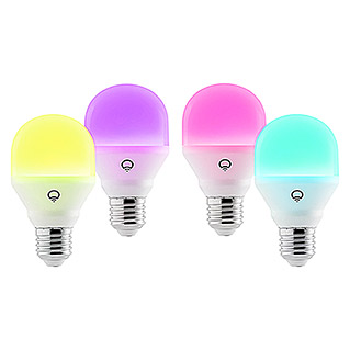 LIFX LED-Leuchtmittel Mini Color (4 Stk., E27, 9 W, RGBW, Dimmbar)