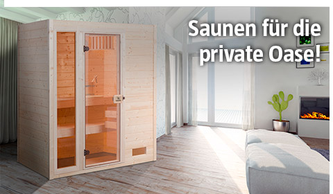 Saunen für die private Wellness-Oase