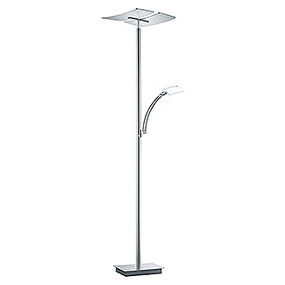 LED-Deckenfluter Duo (1 x 30 W/ 1 x 6 W, Nickel matt, Höhe: 182 cm)
