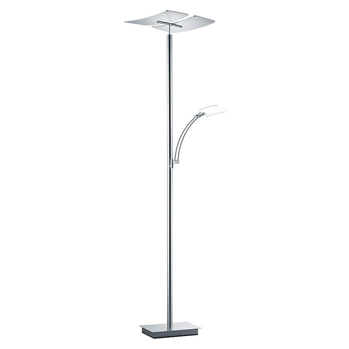 LED-Deckenfluter Duo (1 x 30 W/ 1 x 6 W, Nickel matt, Höhe: 182 cm) -