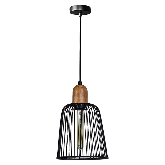 Tween Light Lámpara colgante (40 W, Negro/Marrón, Ø x Al: 20 x 150 cm)