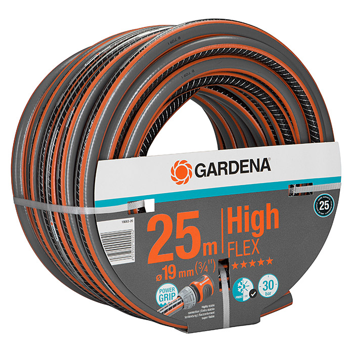 Gardena Manguera Comfort High Flex (Largo: 25 m, Diámetro tubo flexible: 19 mm (¾''), Presión de estallido: 30 bar)