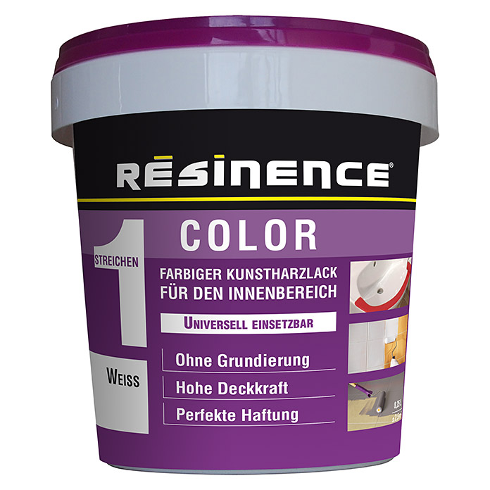 Résinence Color Farbiger Kunstharzlack (Weiß, 250 ml) -