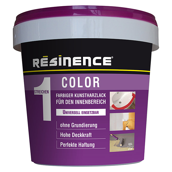Résinence Color Farbiger Kunstharzlack (Milchig, 500 ml) -