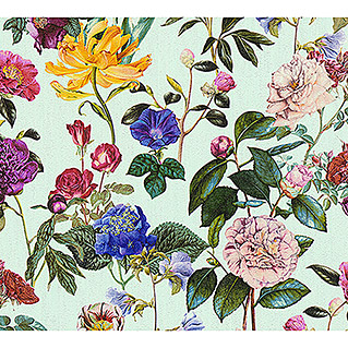 AS Creation Trendwall Vliestapete Blumenwiese (Bunt/Mintgrün, Floral, 10,05 x 0,53 m)