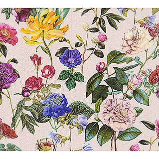 AS Creation Trendwall Vliestapete Blumenwiese (Bunt/Rosé, Floral, 10,05 x 0,53 m)