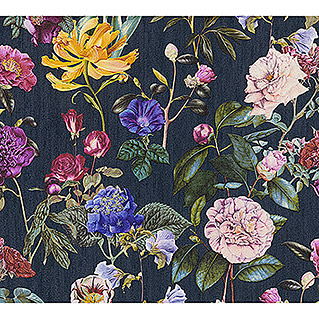AS Creation Trendwall Vliestapete Blumenwiese (Bunt/Blau, Floral, 10,05 x 0,53 m)