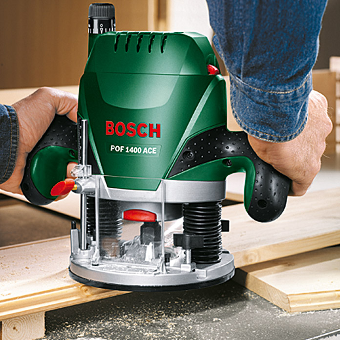 Bosch Fresadora de superficie POF 1400 ACE (1.400 W, 55 mm)