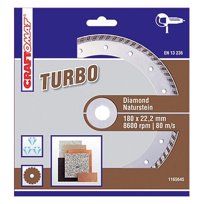 DIAMANT   180 mm    NATURSTEINBRAUN     TURBO