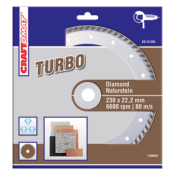 DIAMANT   230 mm    NATURSTEINBRAUN     TURBO
