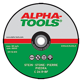 Alpha Tools Doorslijpschijf C 24R-BF (Steen, Schijfdiameter: 230 mm, Dikte plaat: 2,5 mm, 5 stk.)