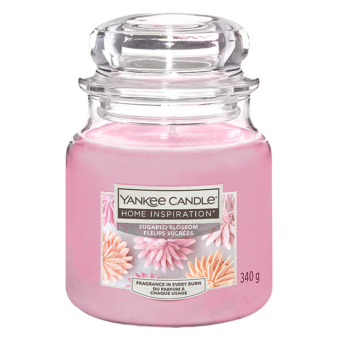 Yankee Candle Home Inspirations Duftkerze (Im Glas, Sugared Blossom, Medium)